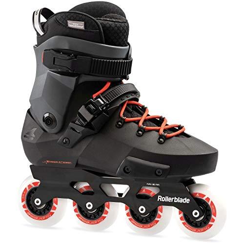 Rollerblade Twister Edge Skates schwarz, Erwachsene, Unisex, Black/Warm Red, 295