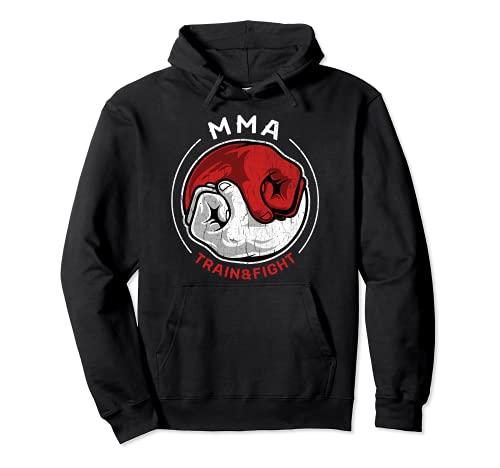 Camiseta de artes marciales mixtas MMA Retro Train Fight Yin Sudadera con Capucha