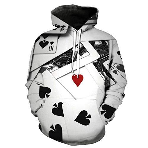 JSR-Hoodie Hombres/Mujeres Sudaderas con Capucha 3D Juego de impresión Patrón de Cartas de póquer Sudaderas con Capucha Elegantes y Delgadas SMT-LMS-0296 XXXL