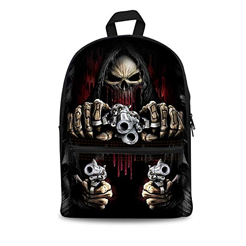 FIRST DANCE Cool Skull Print Backpacks for Kids Teenagers Boys Girls Children's School Bags Computer Laptop Backpack