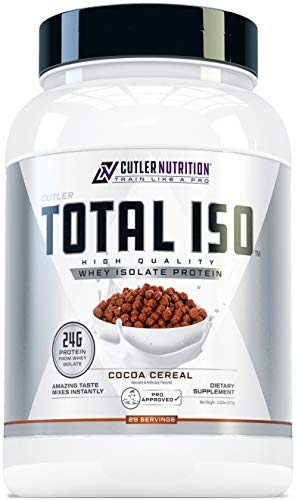 Total ISO Whey Isolate Protein Powder: Best Tasting Whey Protein Shake Featuring 100% Whey Protein Isolate, Perfect Post Workout Protein Powder Mix and Meal Replacement Drink, Cocoa Cereal, 2 Pounds