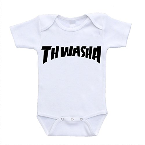 'Thwasha' Thrasher Magazine Parody Inspired Baby Clothing Bodysuits (24 Months)