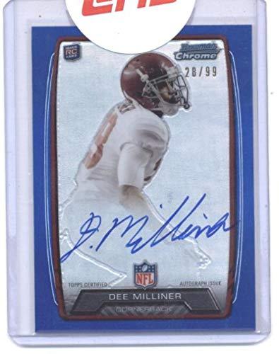 2013 Bowman Chrome Rookie Autographs Blue Refractors #RCRA-DMI Dee Milliner NY Jets NFL Football Card (Autographed) /99 NM-MT