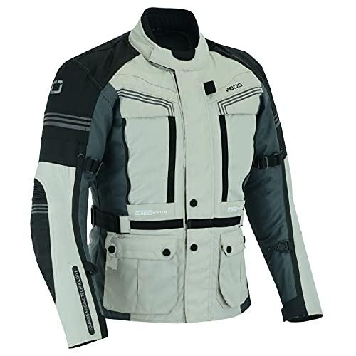 BOSmoto Herren Moto Motorradjacke Atmungsaktiver Rüstungsschutz Hochglänzende Reflexion für Sommer Frühling Herbst (5XL)