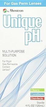 Menicon Unique pH Multi-Purpose Solution 4 fl oz  120ml  + RGP Lens Case