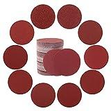 GmeDhc Lija Para Lijadora, 100 Pieza Repuesto Velcro Lijadora, 50 mm Disco de Lija para Amoladora, Lijas para lijadora orbital, Papel lija madera para lijadora, Redondo lija para madera en tela