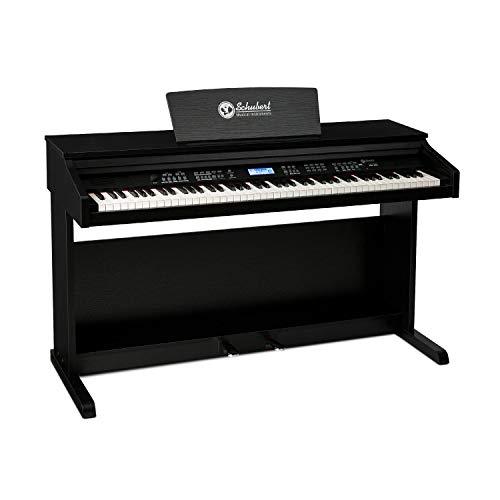 Schubert Subi 88 MK II - Tastiera, Pianoforte Digitale, E-Piano, 88 Tasti Sensibili al Tocco, 360 Toni, 160 Ritmi, 80 Brani Dimostrativi, Uscita di Linea, USB, MIDI IN OUT e MIDI USB, Nero