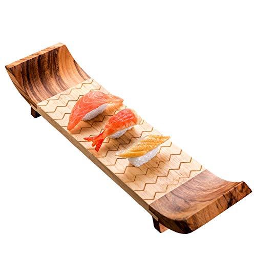 WFBD-CN Japón Estilo de bambú Plato de Sushi Vajilla Sashimi Placa Junta de Cocina Japonesa Cocina Comida Japonaise Rectangular visualización del Letrero