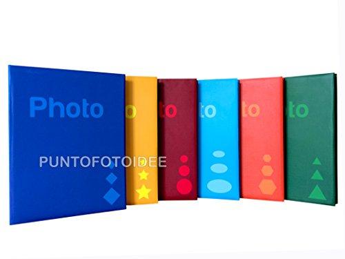 6 Album Fotografici Basic a Tasche 13X19 - 300 Foto Cad. - Memo - Conf. 6 Pz.