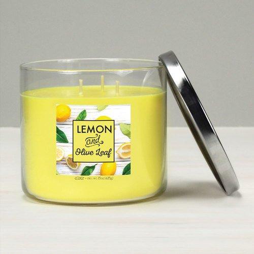 GOOSE CREEK Elixir geurkaars glas 3 lonten Lemon & Olive Leaf 425 g