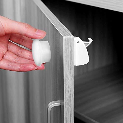 Cerraduras Magnéticas de Seguridad para Niños (4 cerraduras + 1 llaves) Bloqueo de Seguridad...