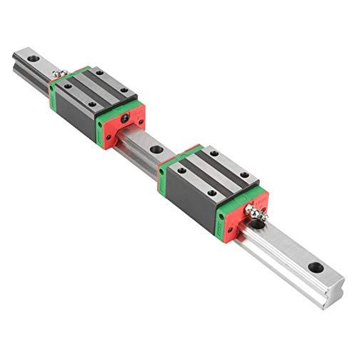 Deslizador de riel de guía lineal HGR20 de 400 mm, carro de riel, bloques deslizantes de rodamiento, guía lineal de alta precisión, enrutador CNC de carro con bloque de riel de 2 piezas