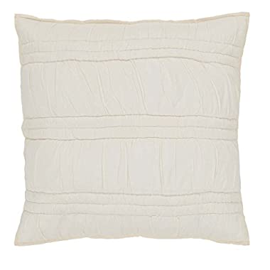 VHC Brands Farmhouse Bedding - Natasha White Euro Sham, Pearl White