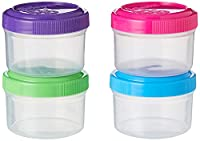 Convenient dressing pots for on the go Stackable with easy use seal tight lids Dishwasher (top rack only), microwave (without lid), fridge and freezer safe Designed and made in New Zealand, phthalate and BPA free Keep food fresh