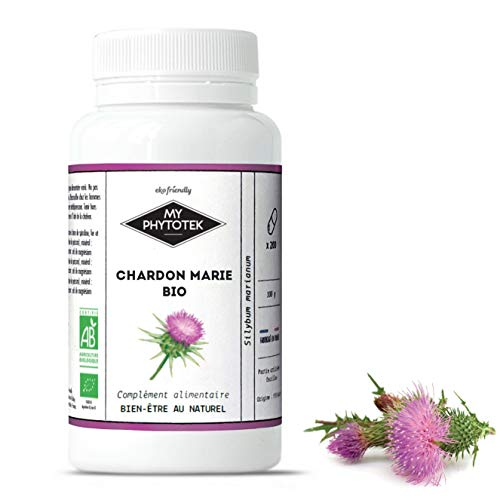 Cardo mariano orgánico, 200 cápsulas (200 mg)