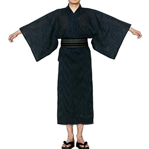 Fancy Pumpkin Kimono Giapponese da Uomo Jinbei Yukata Home Robe Pigiama Vestaglia A2 【Taglia L】