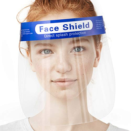 10 Pack Clear Face Shields for Women and Men - Clear Plastic Face Shield Anti Fog Face Shield for Adults | Easy to Use | Comfortable To Wear | Better than a Mask