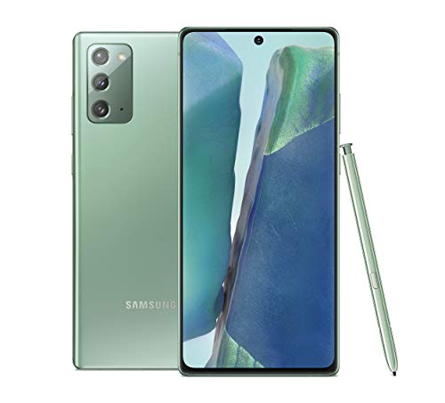 Samsung Galaxy Note20 5G Factory Unlocked Android Cell Phone, US Version, 128GB of Storage, Mobile Gaming Smartphone, Long-Lasting Battery, Mystic Green