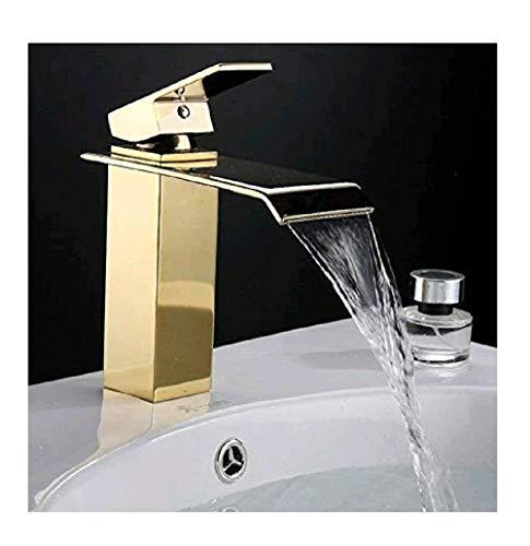 Retro Deluxe FaucetingDhl Kostenloserversand Gold Bad Armaturen Wasserfall Wasserhahn warmes und kaltes Gerät Wasserhahn aus poliertem Goldenen Badezimmer Waschbecken Mischbatterie