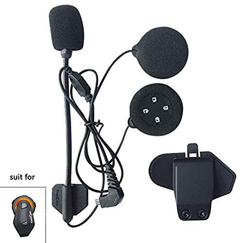 FreedConn Mikrofon Lautsprecher Fest Kabel Headset für TMAX,Hochwertige High Definition-Kopfhörer Mit 4 Lautsprechern(Harten Kabel+Clip)