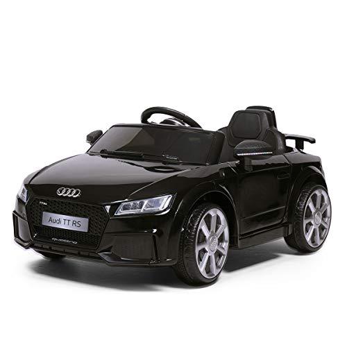 JAXPETY Audi TT 12V Electric Ride On Car Licensed MP3 LED Lights RC Remote Control (Black)