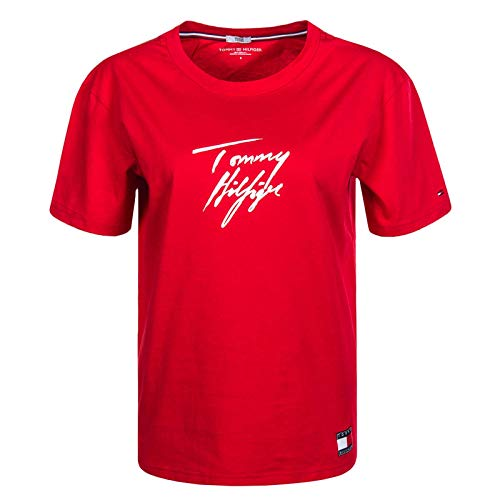 Tommy Hilfiger CN Tee SS Logo, rot(xcnred), Gr. M