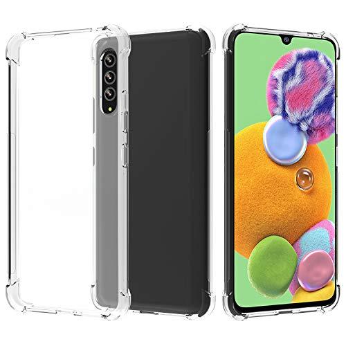 Migeec Hülle für Samsung Galaxy A90 5G Transparent [Stoßfest] Weiche Silikon [Kratzfest] Flex TPU Bumper handyhülle Durchsichtige Schutzhülle