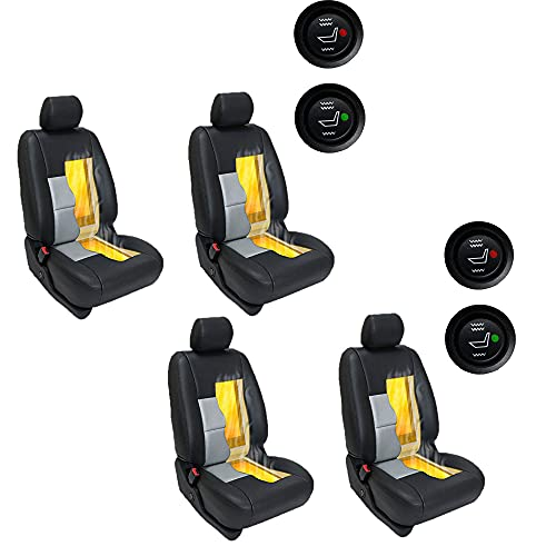 Seat Heater Kit High/Low Switch Settings Faster Warm Up (4 Seats)