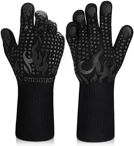 BBQ Gloves 1472 F Heat Resistant Grilling Gloves Silicone Non Slip Oven Gloves Long Kitchen product image