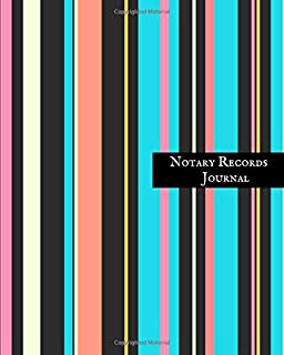 Notary Records Journal: Official Notary Journal| Public Notary Records Book|Notarial acts records events Log|Notary Template| Notary Receipt Book ? Paperback