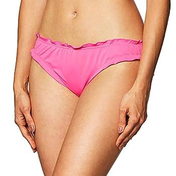 Smart & Sexy Women s Standard Swim Secret Ruffled and Ruched Back Bikini Bottom Black Hue M