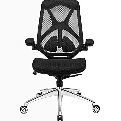 Silla ergonómica de oficina Silla ergonómica de oficina, silla de oficina simple, asiento de escritorio de estudio, silla de juego, silla de jefe, silla de trabajo de apoyo de la cintura Silla del ord