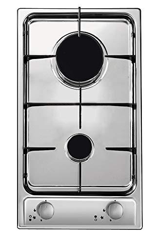 Candy CDG32/1SPX Incasso Piano Cottura a Gas, 2 Zone Cottura, Acciaio Inossidabile, 510x290x40 mm