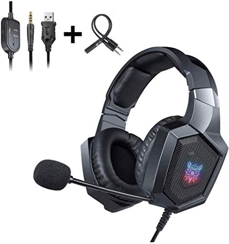 YAYY gaming-headset - 3 5 mm stereo hoofdtelefoon met ruisonderdrukking en microfoon voor nieuwe Xbox One/PC/Mac OS/PS4 (upgrade)