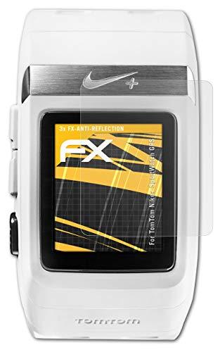 atFoliX Película Protectora Compatible con Tomtom Nike+ SportWatch GPS Lámina Protectora de Pantalla, antirreflejos y amortiguadores FX Protector Película (3X)