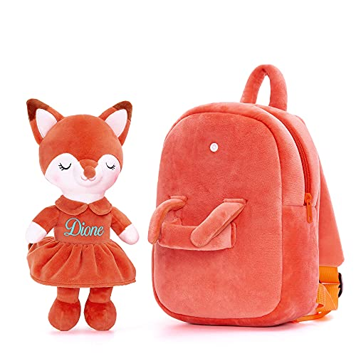 Lazada Personalized Fox Kids backpack with Plush Girl Toys Brown Age 3+ (11')