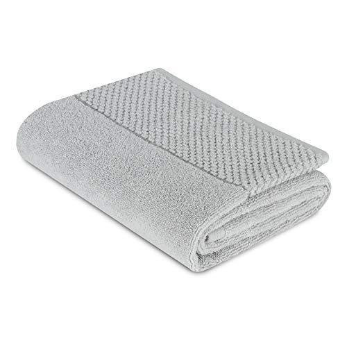 SAHARA MAISON - Juego de toallas de baño 100% algodón natural | 580 g/m² | toalla de sauna de secado rápido Supersoft Comfy para invitados y toalla de baño – (Rhoda Grey) (gris, 50 x 90 cm)