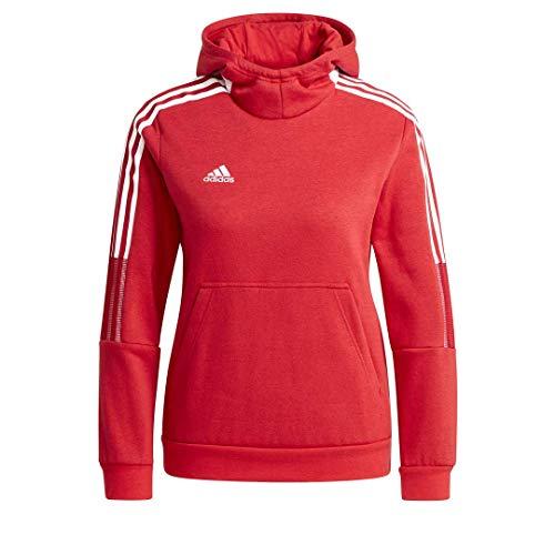 adidas unisex-child Tiro 21 Sweat Hoodie Team Power Red X-Large
