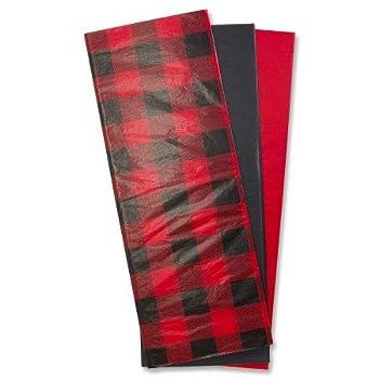 Buffalo Plaid Tissue- 18 Sheets of Gift Wrap Tissue