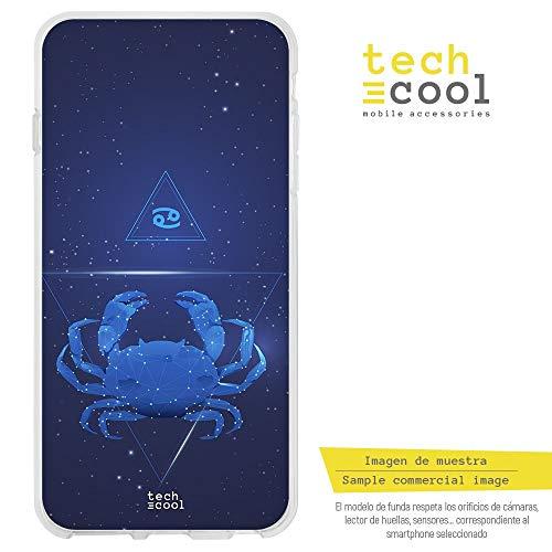 Funnytech beschermhoes voor Samsung Galaxy A3 (2016) van silicone (TPU) voor Samsung Galaxy A3 (2016) [exclusief design, hoge-resolutie] [Constelacion sterrenbeeld Estrellas Cancer]