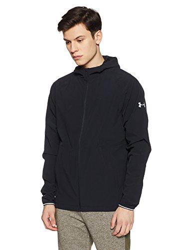 Under Armour Men's Outrun The Storm Jacket,Black (001)/Reflective, Medium