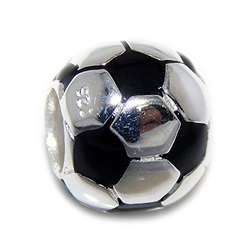 Pro Jewelry - Abalorio de plata de ley 925, diseño de pelota de fútbol