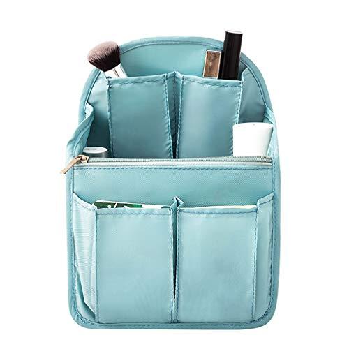 Waterdichte opslag Waszak Cosmetische Tas, Multi-functionele Sub-grid Opslag, Draagbare Opslag Goederen Reizen Waszakken, Dubbele Rits Blauw