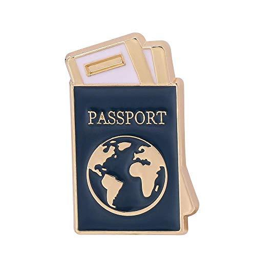 YRFZ Broschen & Anstecknadeln Für Damen Emaille Passport Broschen Für Frauen Mann Kragen Pin Brosche Pins Abzeichen Schmuck