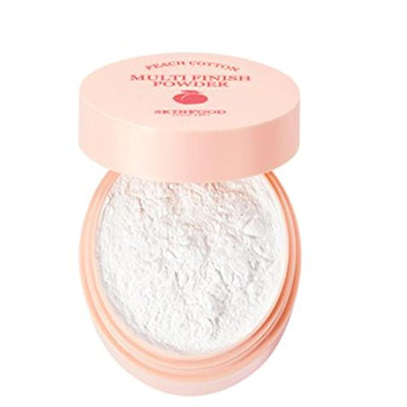 広々永久に強打[SKINFOOD] Peach Cotton Multi Finish Powder ピッチサラッとマルチフィニッシュパウダー - 5g