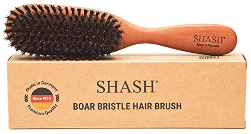 Made in Germany - The Classic 100% Boar Bristle Hair Brush, Suitable For Thin To Normal Hair - Naturally Conditions Hair, Improves Texture, Exfoliates, Soothes and Stimulates the Scalp