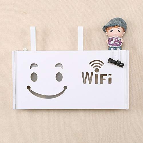 ZANGAO 1 unid Caja de Almacenamiento de enrutador WiFi inalámbrico montado en la Pared Panel de PVC Estante Colgante Enchufe Tablero Soporte Cable Organizador de Almacenamiento en el hogar 3 tamaño