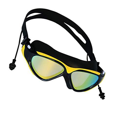 vkospy BOIHON Erwachsener Schwimmen Surfen Earplug Brillen Frauen Männer Brillen Anti-Fog Galvani Anti Fog Galvani Brille UV-Schutz Schwimmbrille