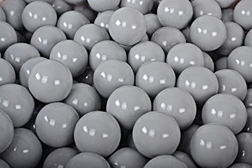 MEOWBABY 200 ∅ 7Cm Kinder Bälle Spielbälle Für Bällebad Baby Plastikbälle Made In EU Grau