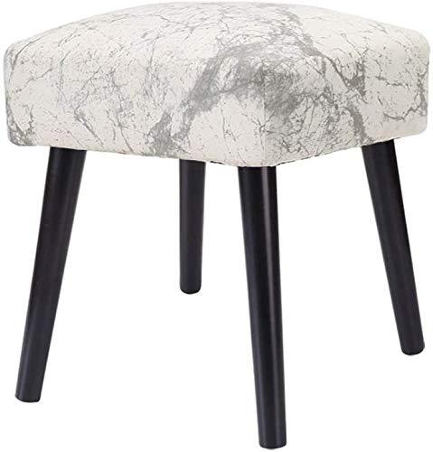 XYUN Moderne kruk van massief hout, zitbank, bedovertrek, schoenwissel, Bench, stof, ottomane, schminkstoel, groot gewatteerd, houten tafel met 4 l